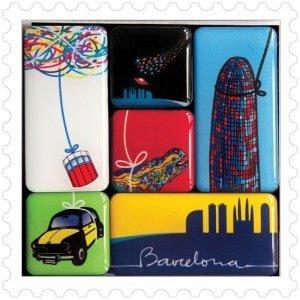 Pack imanes Barcelona diseño made in Barcelona souvenir
