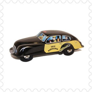 Taxi Barcelona Barcelona tin icon, brass, collector, car collection